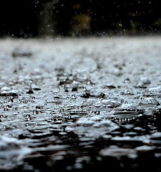 kraftig regn